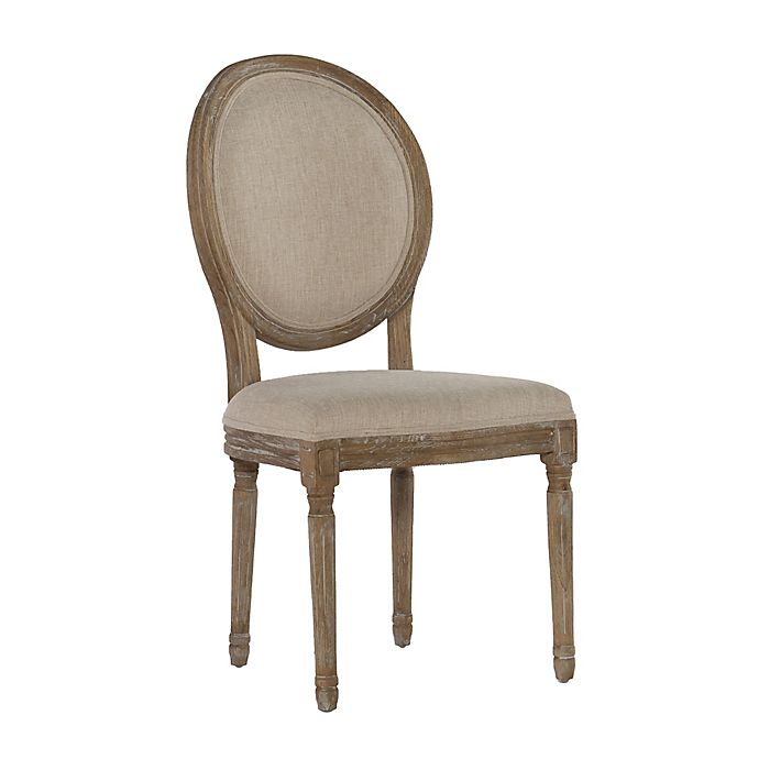 Admirable Shiraz Linen Oval Back Dining Chairs Set Of 2 Bed Bath Gmtry Best Dining Table And Chair Ideas Images Gmtryco