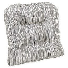 Waterfall Memory Foam Chair Pad in Taupe