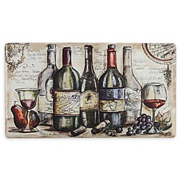 "Bacova Vintners Journal 20"" x 36"" Kitchen Mat in Beige"