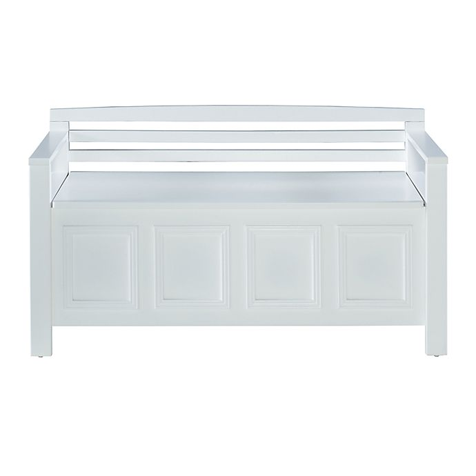 Tremendous Laredo Storage Bench In White Bed Bath Beyond Cjindustries Chair Design For Home Cjindustriesco