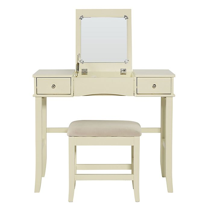 Linon Jackson Vanity Set With Mirror Reviews: Linon Home Jackson 2-Piece Vanity Set In Cream