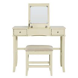 Linon Home Jackson 2-Piece Vanity Set in Cream