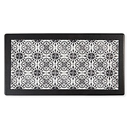 "Home Dynamix Divine Step Cliffside 20"" x 36"" Kitchen Mat in Black/White"