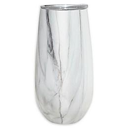 Oggi™ Champagne Flute in White Marble