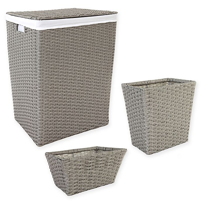 Alternate image 1 for ORG Poly-Rattan Hamper and Basket Collection