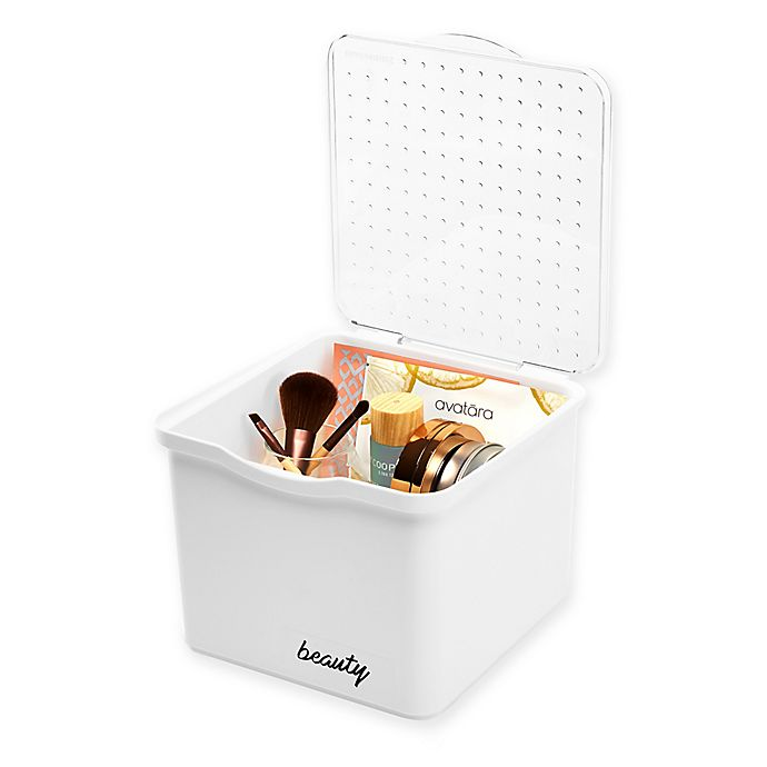 Alternate image 1 for madesmart® Small Stacking Bin in White