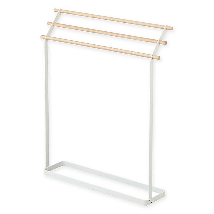 Alternate image 1 for Yamazaki® Tosca Bath Towel Hanger in White