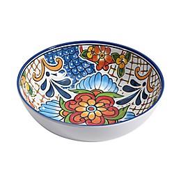 Medallion Melamine Small Bowl in White