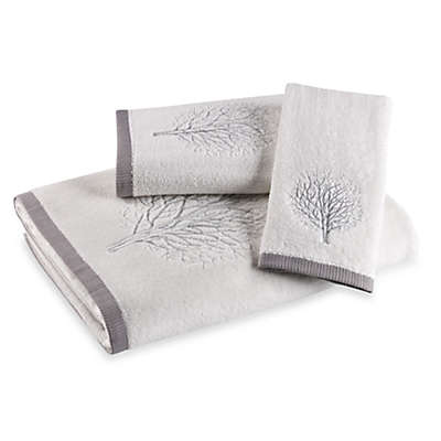 Laura Ashley® Forest White/Silver Fingertip Towel