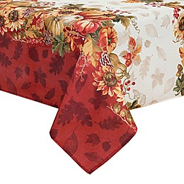 Elrene Swaying Leaves Bordered Table Linens Collection