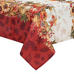 Elrene Swaying Leaves Bordered Tablecloth