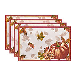Elrene Swaying Leaves Bordered Placemats (Set of 4)