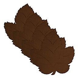 Elrene Swaying Leaves Fall Placemat in Chocolate Brown (Set of 4)
