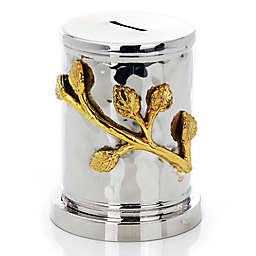 Classic Touch Tervy Leaf Collection Tzedakah Box in Gold/Nickel