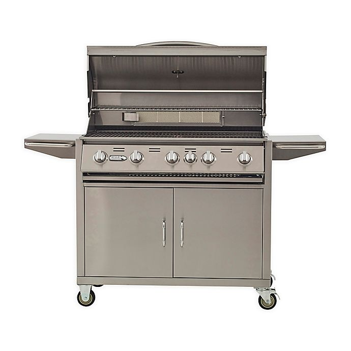 Bullet 87000 5-Burner Gas Grill in Stainless Steel   Bed ...
