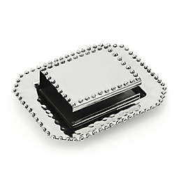 Classic Touch Match Box with Plate in Silver (2-Piece Set)