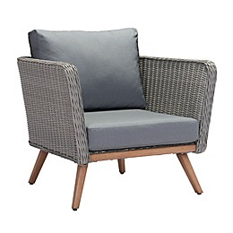 Zuo® Modern Monaco All-Weather Armchair in Natural/Gray