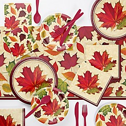 Creative Converting™ Harvest Fall Leaves 146-Piece Party Supplies Kit