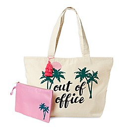 Tricoastal Canvas Tote with Bikini Bag