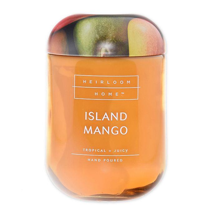 Alternate image 1 for Heirloom Home™ Island Mango 24 oz. Jar Candle with Metal Lid