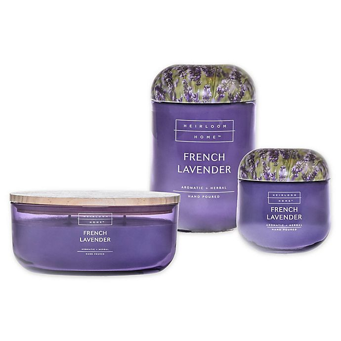 Alternate image 1 for Heirloom Home French Lavender Candle Collection