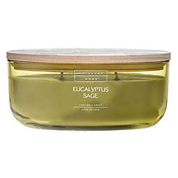 Heirloom Home™ Eucalyptus Sage 18 oz. Dish Candle with Wood Lid