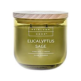 Heirloom Home Eucalyptus Sage 14 oz. Jar Candle with Wood Lid