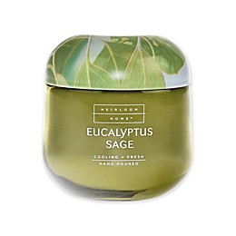 Heirloom Home Eucalyptus Sage 14 oz. Jar Candle with Metal Lid