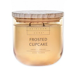 Heirloom Home Frosted Cupcake 14 oz. Jar Candle with Wood Lid