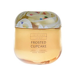 Heirloom Home Frosted Cupcake 14 oz. Jar Candle with Metal Lid