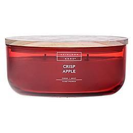 Heirloom Home Crisp Apple 18 oz. Dish Candle with Wood Lid