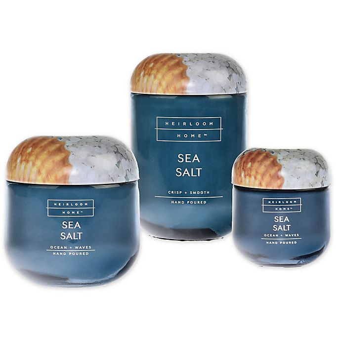 Alternate image 1 for Heirloom Home™ Sea Salt Candle Collection