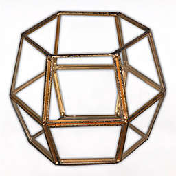 N\/a Lantern Tea Light Holder in Rustic Gold