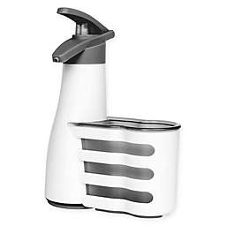Casabella Soap Pump and Holder Combo in White/Grey