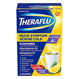 Theraflu® 6-Pack Nightime Severe Cold & Cough Hot Liquid Powder in Lemon/Honey