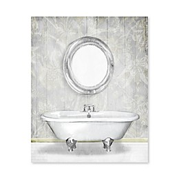Artissimo Designs™ Gray Floral Bath 16-Inch x 20-Inch Printed Canvas Wall Art