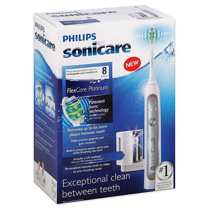 Alternate image 1 for Philips Sonicare® FlexCare Platinum Electric Toothbrush with UV Sanitizer