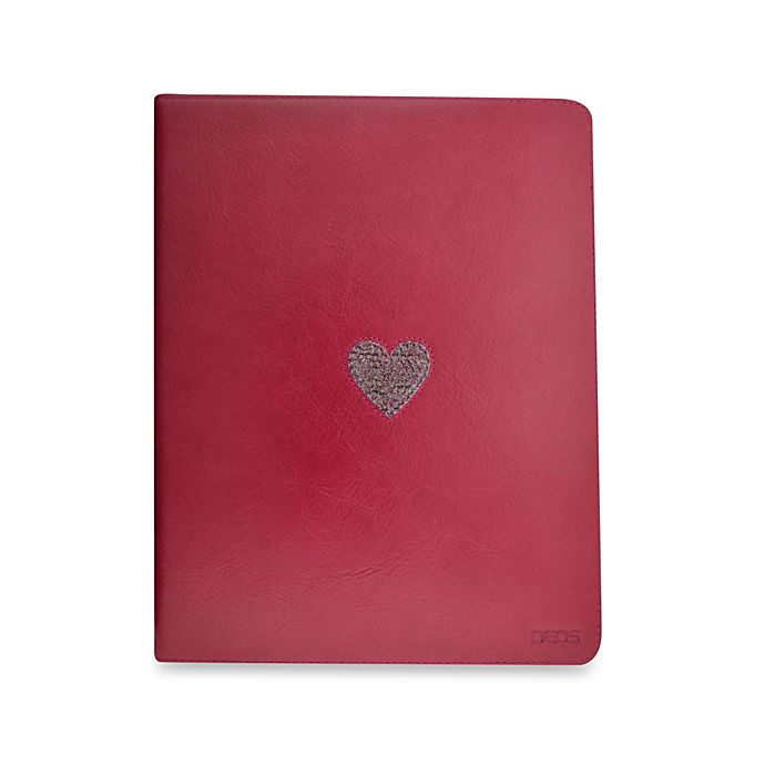 Alternate image 1 for DEOS Leather & Crystal iPad® Folio Case in Pink