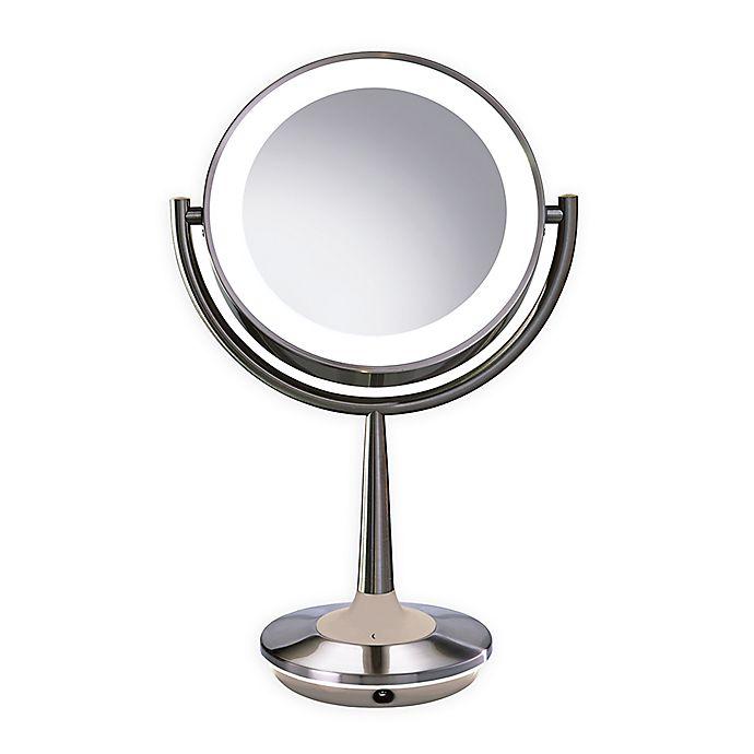 Alternate image 1 for Brookstone Cordless Illuminated Makeup Mirror