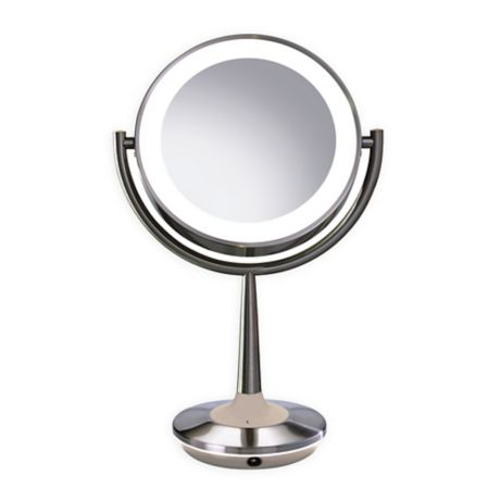 Brookstone Cordless Illuminated Makeup Mirror Bed Bath