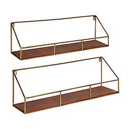 Kate and Laurel™ 2-Piece Westland Floating Wall Shelves