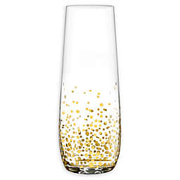 Fitz and Floyd® Luster Stemless Champagne Flutes in Gold (Set of 4)