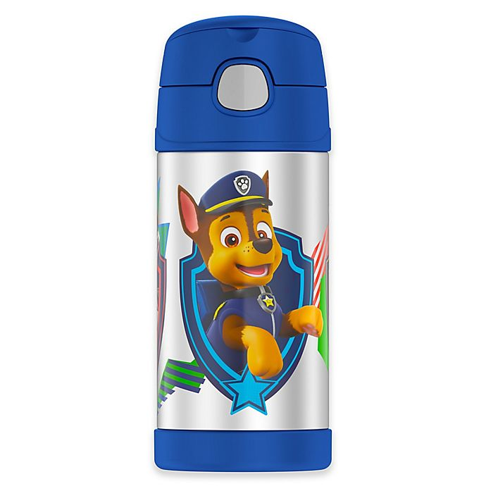 Alternate image 1 for Thermos® Paw Patrol® 12 oz. Funtainer Bottle with Straw in Teal