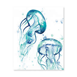 Artissimo Designs Jellyfish Printed Canvas Wall Art