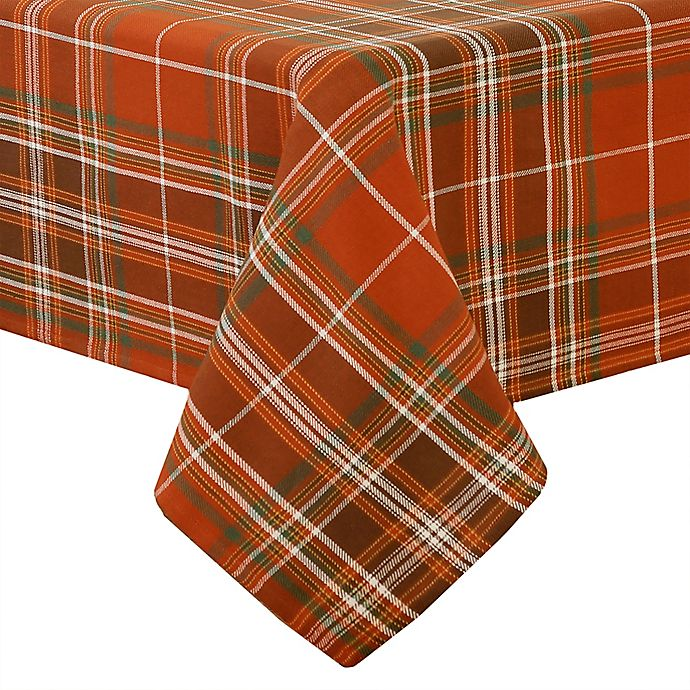 Alternate image 1 for Elrene Home Fashions Loden Plaid Tablecloth