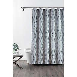 Croscill® Echo Stall Shower Curtain in Slate Grey