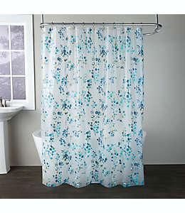 Cortina de baño Blossoms en azul