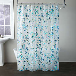 Blossoms Shower Curtain in Blue