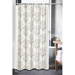 Tree Embroidery 72-Inch Square Shower Curtain in Natural