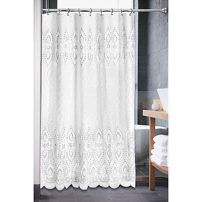 Alternate image 1 for Monaco Shower Curtain in White